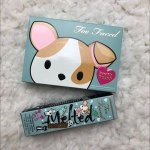 Too Faced Puppy Palette and lipstick